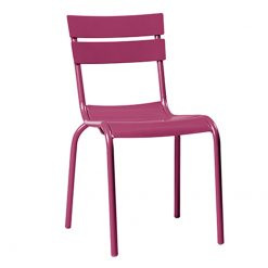 Pink Aluminium Stacking Side Chair