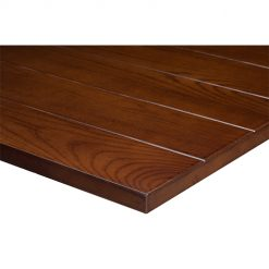 25mm solid ash slat table top light walnut