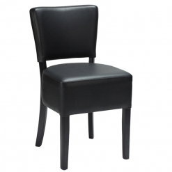 Black Fully upholstered Black frame Side Chair