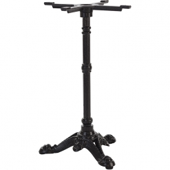 Black cast iron 3 leg dining table base