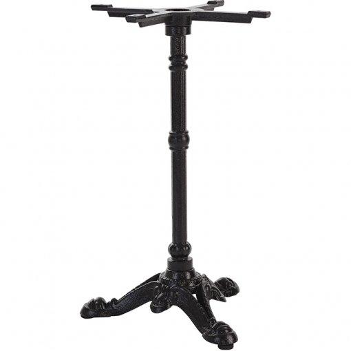 Black cast iron 3 leg dining table base