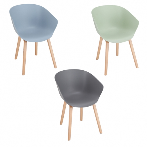 Wood Frame Polypropylene Tub Chair