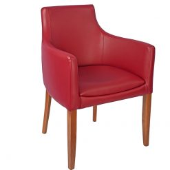 Embrace-Oak-Arm-Chair-Upholstered-in-Burgundy-Faux-Leather-Nobis-Restaurant-Furniture
