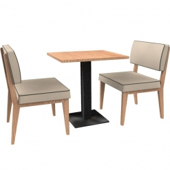 Simplicity Elegant - Complete 2 Seater Free Standing Booth Set - 600mm Wide Nobis Restaurant Furniture