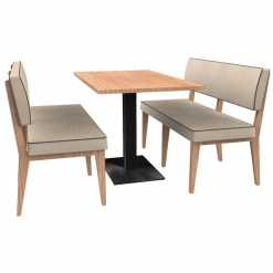 Simplicity Elegant - Complete 4 Seater Booth Set - 1200mm Wide - Includes Table nobis restaraunt furniture