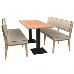 Simplicity Elegant - Complete 6 Seater Booth Set - 1500mm Wide - Includes Table nobis restaraunt furniture