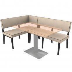 Simplicity Elegant - Right hand Booth Complete Corner Seating Unit nobis restaraunt furniture
