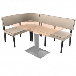 Simplicity Elegant - Right hand Rounded Booth Complete Corner Seating Unit nobis restaraunt furniture