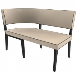 Simplicity Elegant - Right hand Rounded Booth corner Seating - 1200mm x 600mm Wide Unit nobis restaraunt furniture