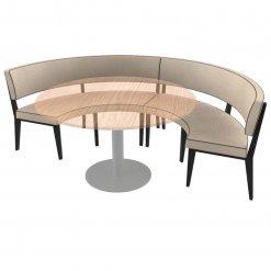 Simplicity Elegant - Round Booth Seating - Large 1 -2 Circle nobis restaraunt furniture
