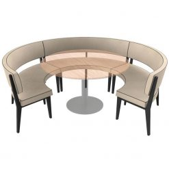 Simplicity Elegant - Round Booth Seating - Large 3 - 4 Circle nobis restaraunt furniture