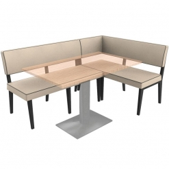 Simplicity Elegant - left hand Booth Complete Corner Seating Unit nobis restaraunt furniture