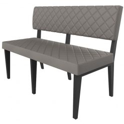 Simplicity Deluxe Quilted - Straight Free Standing Booth Seating - 1200mm Wide
