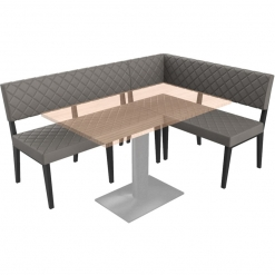 Simplicity Deluxe Quilted - Corner Left Hand Free Standing Booth Seating - 1800mm x 1200mm Wide