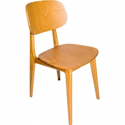 Oak Veneer Side Chair