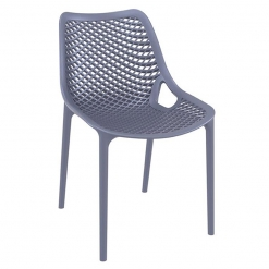 Anthracite Polypropylene Indoor or Outdoor Stacking Side Chair