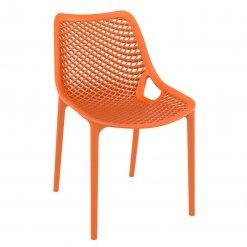 Orange Polypropylene Indoor or Outdoor Stacking Side Chair