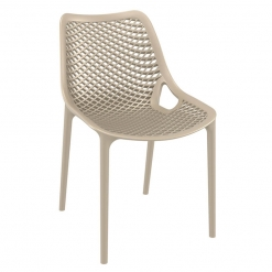 Taupe Polypropylene Indoor or Outdoor Stacking Side Chair