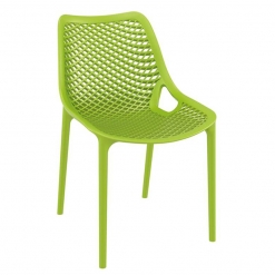 Green Polypropylene Indoor or Outdoor Stacking Side Chair