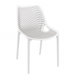 White Polypropylene Indoor or Outdoor Stacking Side Chair