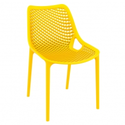 Yellow Polypropylene Indoor or Outdoor Stacking Side Chair