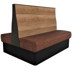 Supreme Plank booth seating high back 1500mm wide back to back
