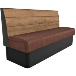 Supreme Plank Booth Seating Standard Height - 4 Seater Free Standing - 1800mm Wide