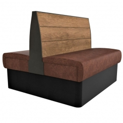 Supreme Plank Booth Seating Standard Height - Back to Back Free Standing - 1200mm Wide