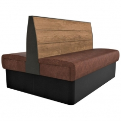 Supreme Plank Booth Seating Standard Height - Back to Back Free Standing - 1500mm Wide