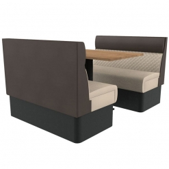 Supreme Quilted Kansas Deluxe Standard Height Booth Seating 4 Seater Both Set Nobis Restaurant furniture