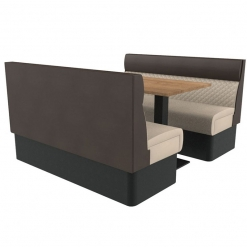 Supreme Quilted Kansas Deluxe Standard Height Booth Seating 6 Seater Both Set Nobis Restaurant furniture