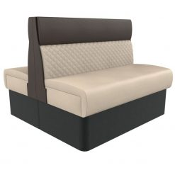 Supreme Quilted Kansas Deluxe Standard Height Booth Seating back to Back 1200mm Nobis Restaurant furniture
