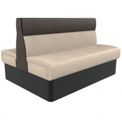 Supreme Quilted Kansas Deluxe Standard Height Booth Seating back to Back 1500mm Nobis Restaurant furniture