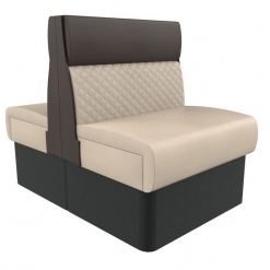 Supreme Quilted Kansas Deluxe Standard Height Booth Seating back to Back 600mm Nobis Restaurant furniture
