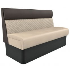 Supreme Quilted Kansas Deluxe Standard Height freestanding Booth Seating- wide 1500mm Nobis Restaurant furniture