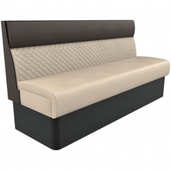 Supreme Quilted Kansas Deluxe Standard Height freestanding Booth Seating- wide 1800mm Nobis Restaurant furniture