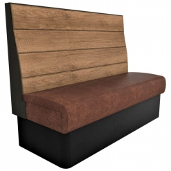 Supreme Plank Booth Seating High Back - 3 Seater Free Standing - 1500mm Wide