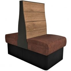Supreme Plank Booth Seating High Back - Back to Back Free Standing - 600mm Wide