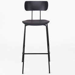 Black Steel Skid Frame High Chair