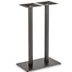 Black-EPC-Mild-Steel-Flat-Rectangular-Twin-Pedestal-Base-Round-Columns-Poseur-Height-Table-Base-Nobis-Restaurant-Furniture