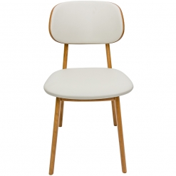 Oak Fully Upholstered Side Chair
