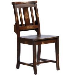 Church Side Chair with Slot - Distressed Finish