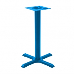 Matt Finish Antonio Cast Iron 2 searter Table Base - Dining Height - Choice of Colour