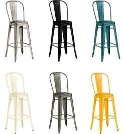 Marcel Industrial High Chair - Choose Your Colour