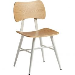 Natural Ply Oak Steel Frame Side Chair