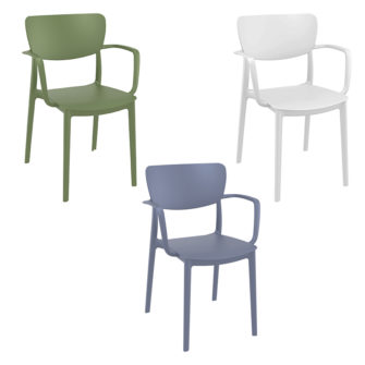 Yeste Side Chair Indoor and or Outdoor - Choice of 3 Colours