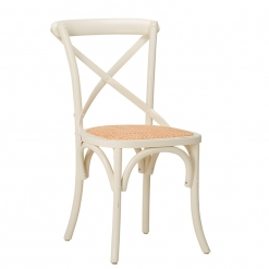 Jewel Distressed Cream Side chair - Beech Restaurant