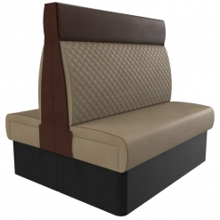 Supreme Quilted High Back - Back to back 1200mm FreeStanding Booth Set nobis restaurant furniture