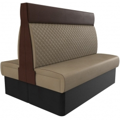 Supreme Quilted High Back - Back to back 1500mm FreeStanding Booth Set nobis restaurant furniture