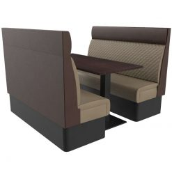 Supreme Quilted High Back - Complete 6 Seater Free Standing Booth Set - 600mm Wide nobis restaurant furniture